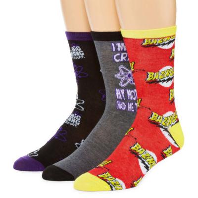 Warner Bros 3 Pair Crew Socks-Mens