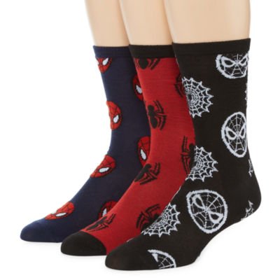 3 Pair Marvel Crew Socks-Mens