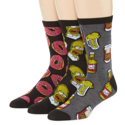 The Simpsons™ 3-pk. Crew Socks