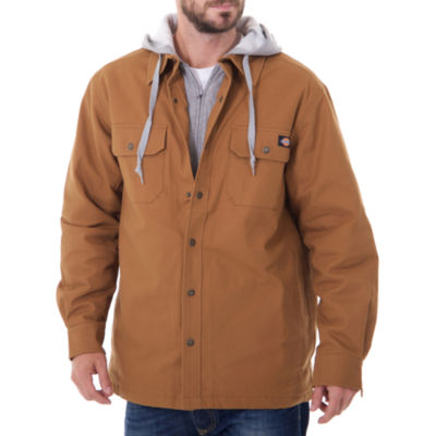 Dickies Hooded Canvas Quilt Lined Shirt Jacket  - Big