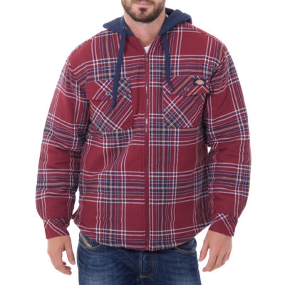 Dickies Long Sleeve Hooded Quilted Flannel Shirt