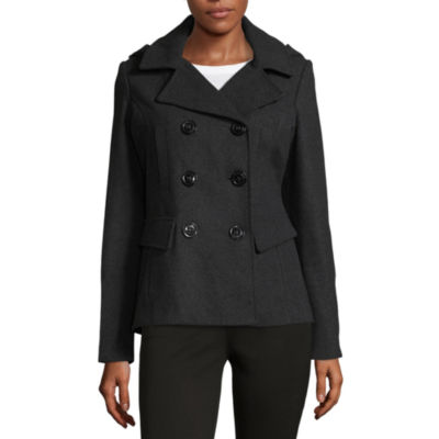 Maralyn And Me Button Front Fashion Coat-Juniors