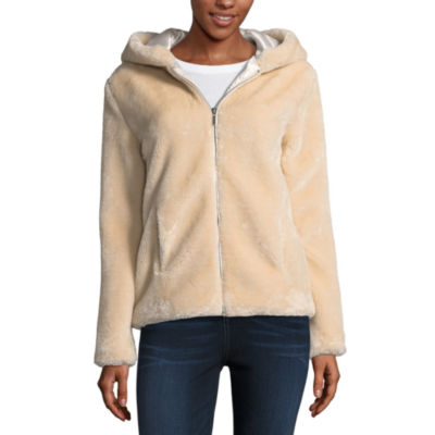Say What Faux Fur Jacket-Juniors