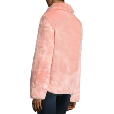 Jou Jou Allover Faux Fur Coat-Juniors