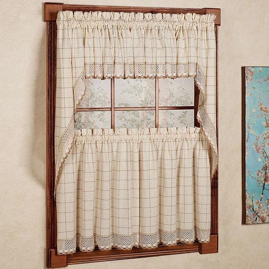 Sweet Home Collection 3-pc. Kitchen Curtain Set