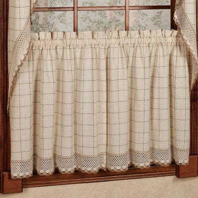 Adirondack Cotton Kitchen Window Curtains - Toast