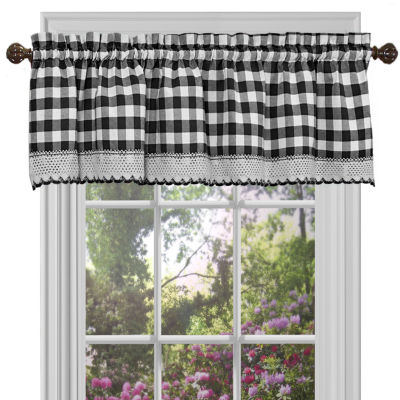 Buffalo Check Gingham Kitchen Curtain Window Treatments