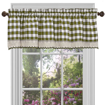 Buffalo Check Gingham Kitchen Window Treatments
