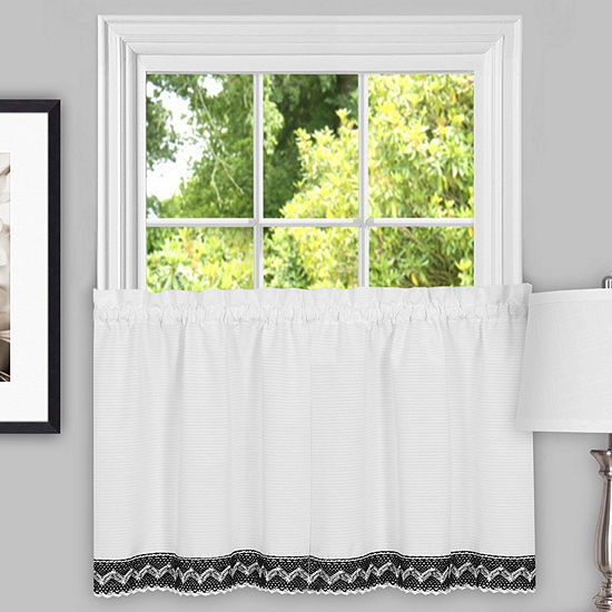 Camden Macramé Trimmed Decorative Window Treatments