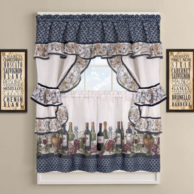 Chateau Kitchen Curtain Cottage Set
