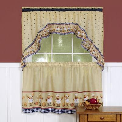 Cucina Chefs Kitchen Curtain Set
