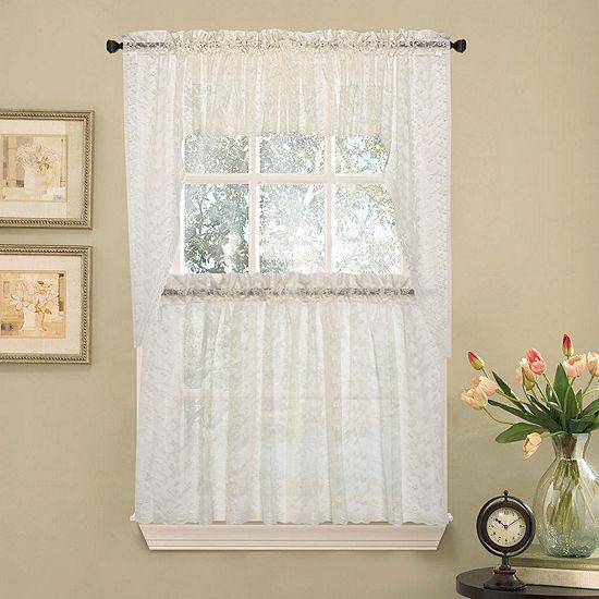 2f7473ec3320 Elegant Priscilla Lace Kitchen Window Treatments - JCPenney