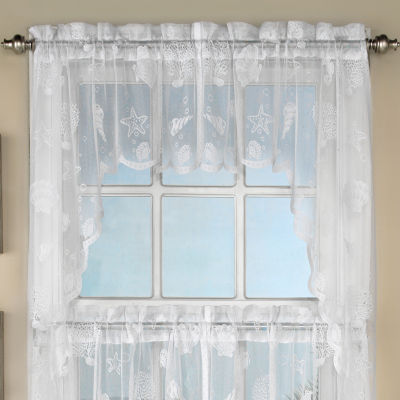 Reef Marine Knitted Lace Kitchen Window Treatments