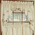 Sunflower Embroidered Kitchen Window Treatments
