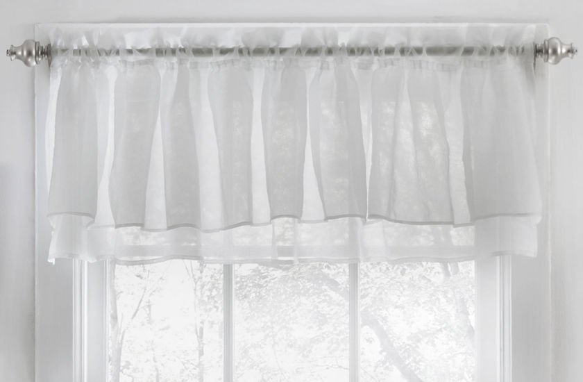 Gypsy Crushed Voile Ruffle Kitchen Window Treatments