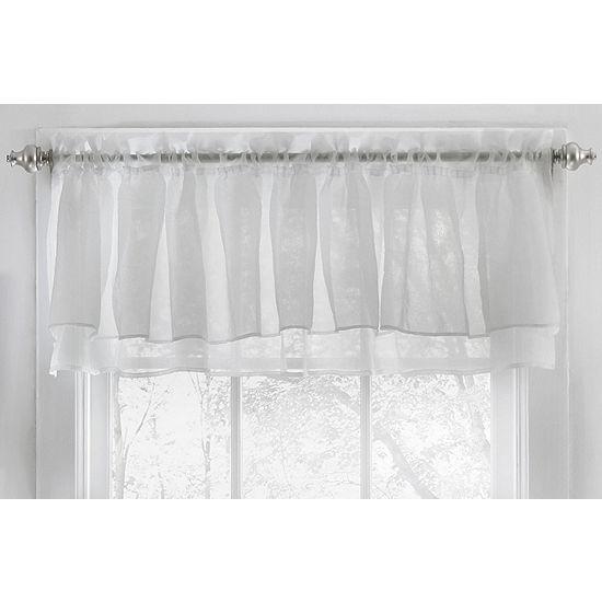 Gypsy Crushed Voile Ruffle Kitchen Window Treatments