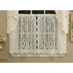 Hopewell Heavy Cream Lace Kitchen Window Treatments