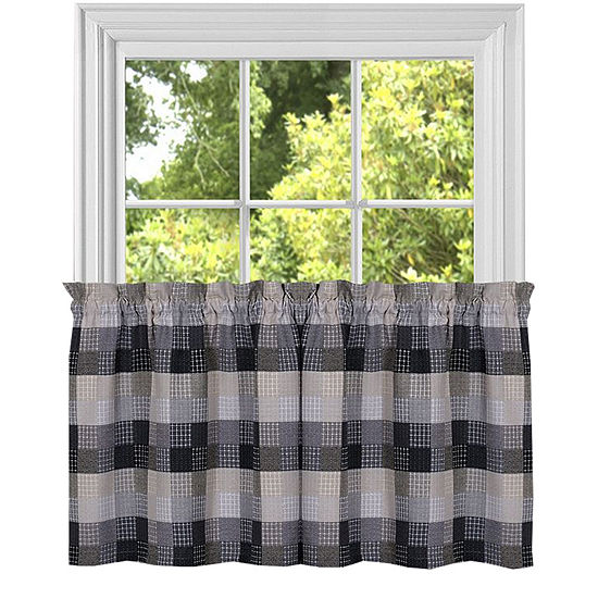 Classic Harvard Checkered Kitchen Window Treatments