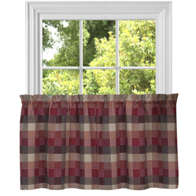 Classic Harvard Checkered Kitchen Window Treatments