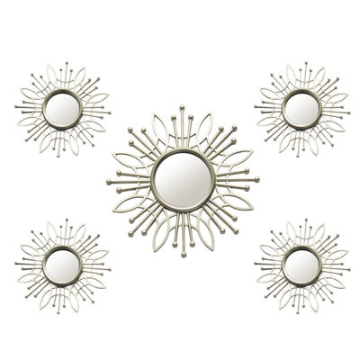 5 Piece Champagne Burst Mirror Set