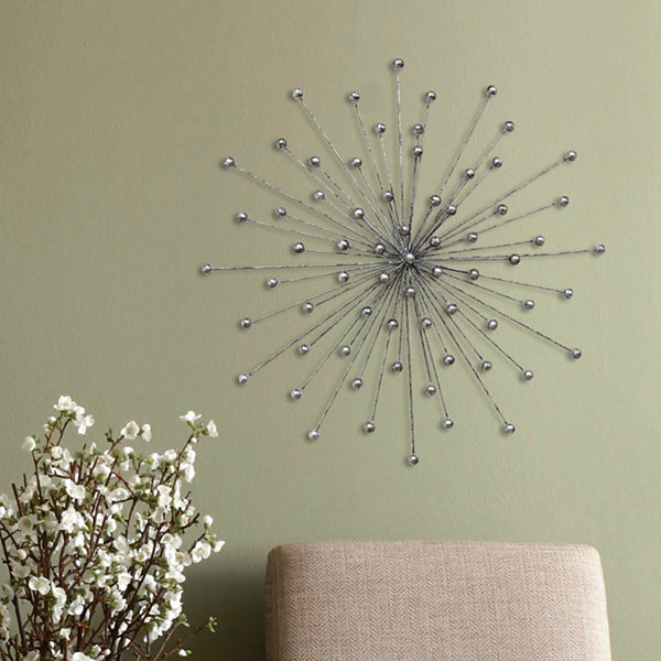 Silver Burst Wall Décor Metal Wall Art