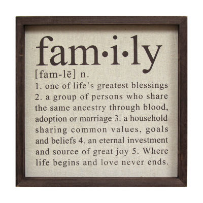 Definition Of Family Wall Décor Wall Sign