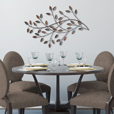 Blowing Leaves Wall Décor Trees + Leaves Metal Wall Art