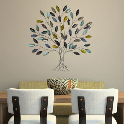 Tree Wall Décor Trees + Leaves Metal Wall Art