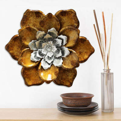 Whimsical Flower Wall Décor Floral Metal Wall Art