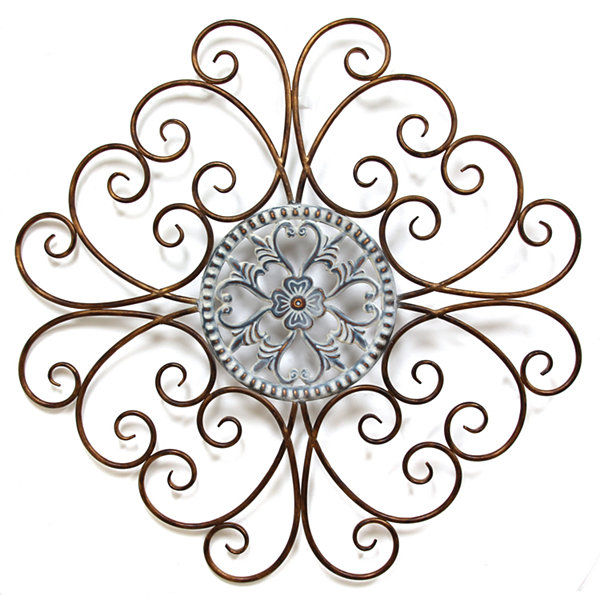 Scroll Medallion Wall Décor Metal Art