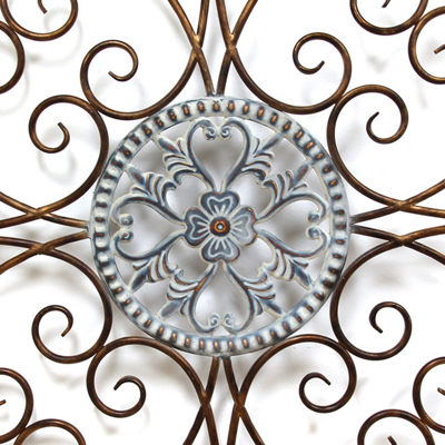 Scroll Medallion Wall Décor Metal Wall Art