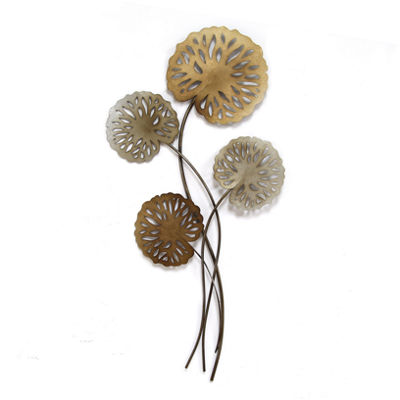 Water Lilies Wall Décor Floral Metal Wall Art