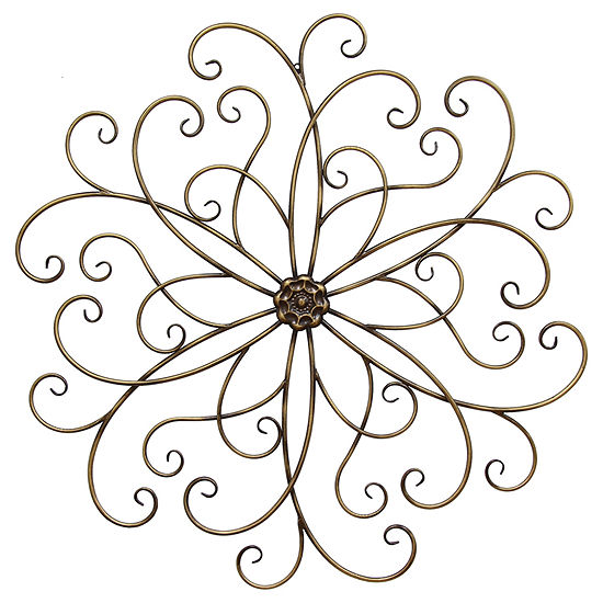 Stratton Home Decor Spiral Abstract Wall Décor Metal Wall Art