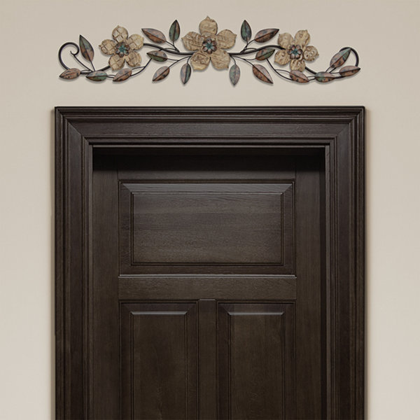 Embossed Flower Over The Door Wall Décor Wall Sign