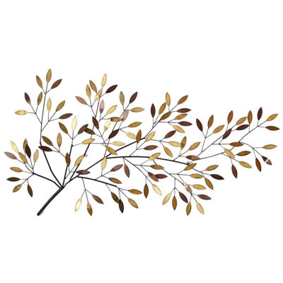 Blooming Tree Branch Wall Décor Trees + Leaves Metal Wall Art
