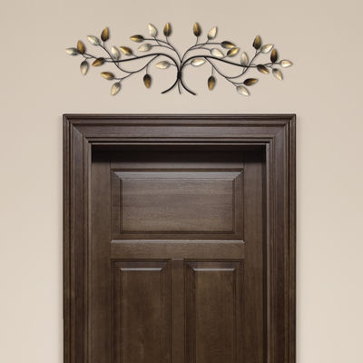 Over The Door Blowing Leaves Wall Décor Metal Wall Art