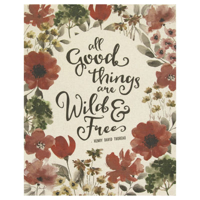 """""""All Good Things Are Wild And Free"""" Linen Wall Art Tapestry"""