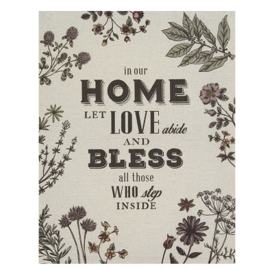 """In Our Home"" Linen Wall Art Tapestry"