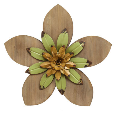 Rustic Flower Wall Décor Wall Sign