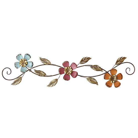 Stratton Home Floral Scroll Wall Décor Metal Wall Art