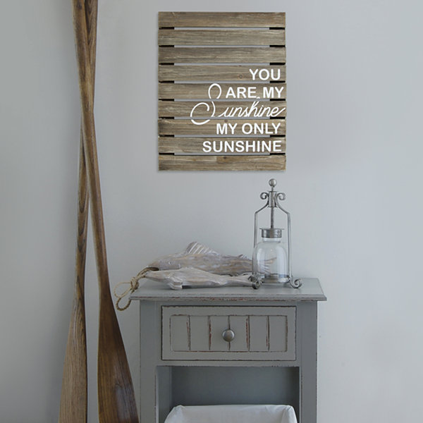 You Are My Sunshine Plank Wood Wall Décor Print