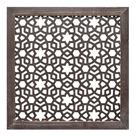 Stratton Home Framed Laser-Cut Wall Décor Wall Sign