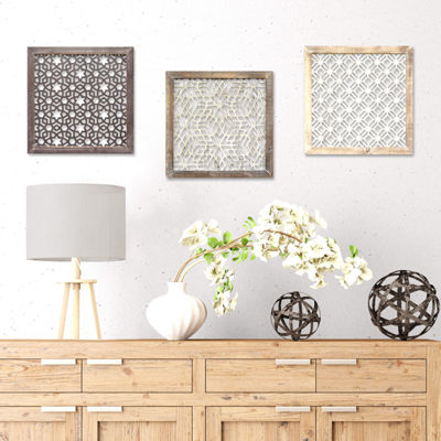Framed Laser-Cut Wall Décor Wall Sign