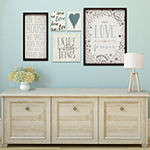 Stratton Home Decor Love Is Forever Wall Art 5-pc. Sentiments + Sayings Print
