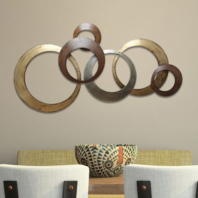 Stratton Home Metallic Rings Wall Décor Metal Wall Art