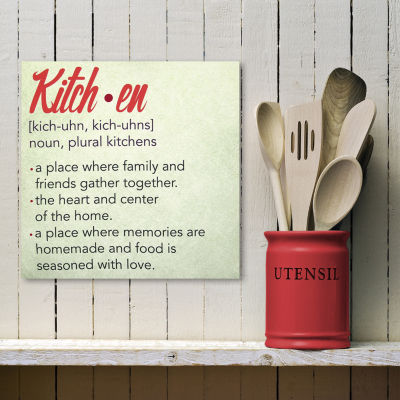 Defintion Of Kitchen Canvas Wall Art Canvas Art