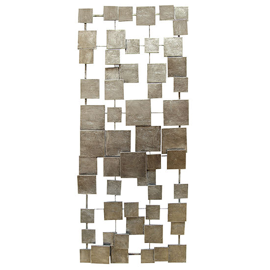 Stratton Home Decor Geometric Tiles Metal Wall Art