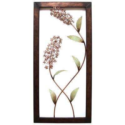 Flower Panel Floral Metal Wall Art