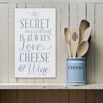 Love; Cheese Wine Wall Art Wall Sign