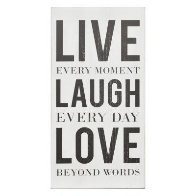 Live; Laugh; Love Box Wall Art Wall Sign